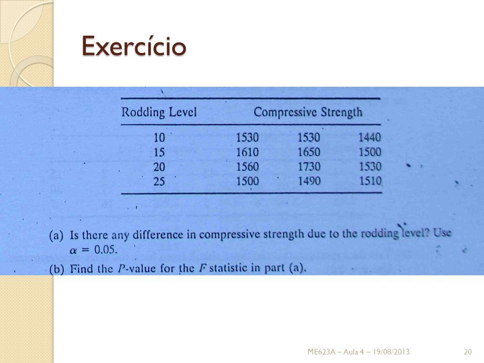 Exercício ME623A – Aula 4 – 19/08/201320
