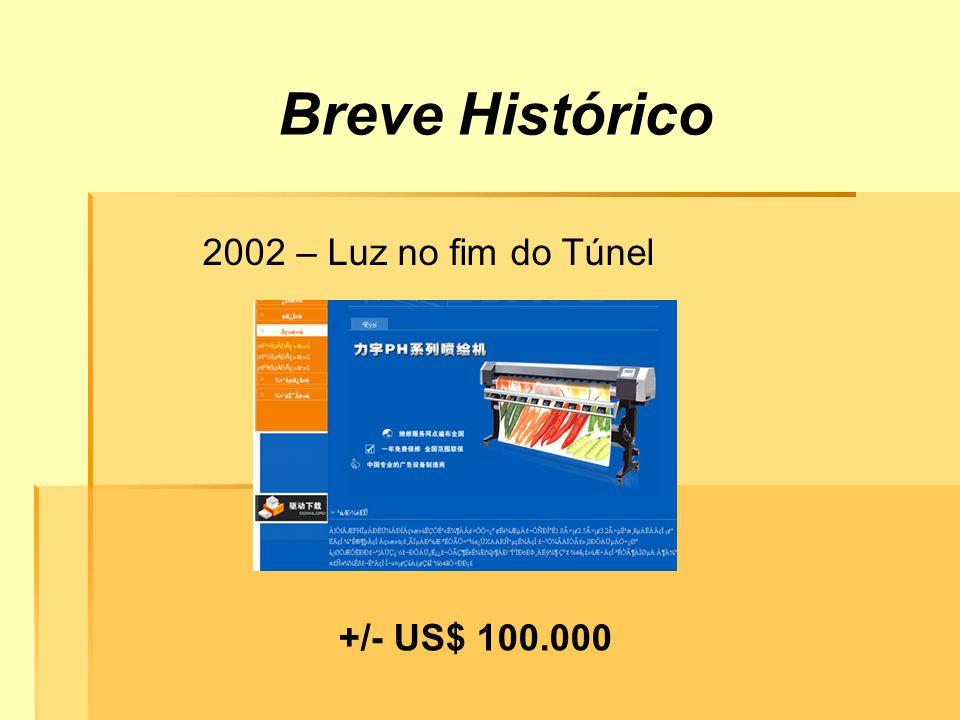 Breve Histórico 2002 – Luz no fim do Túnel +/- US$ 100.000