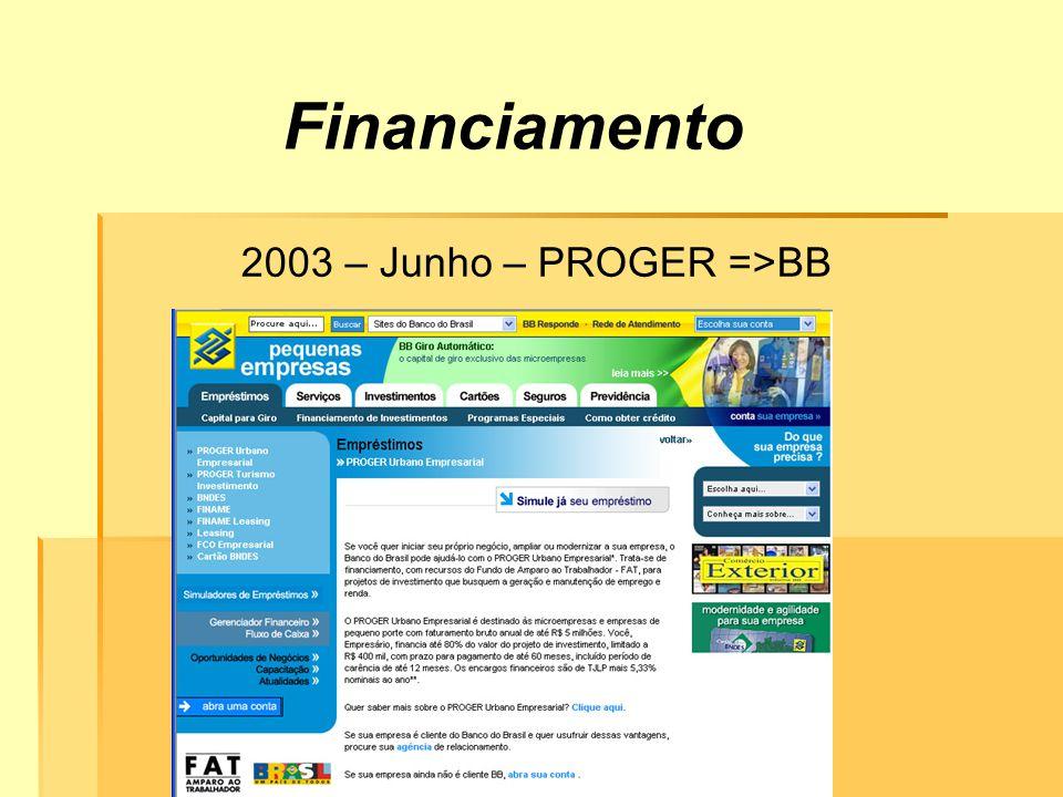 Financiamento 2003 – Junho – PROGER =>BB