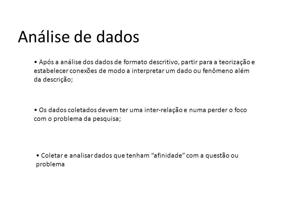 Fonte: www.ime.unicamp.br Análise de dados