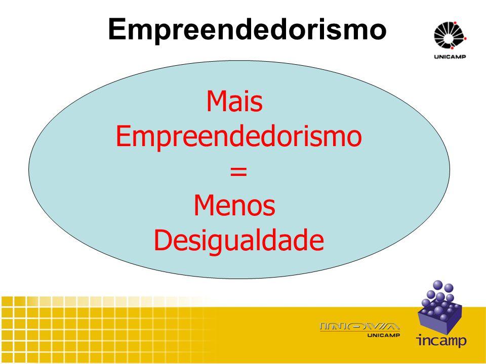 Mais Empreendedorismo = Menos Desigualdade
