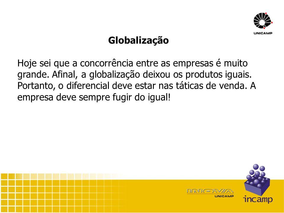 Globalização Hoje sei que a concorrência entre as empresas é muito grande.
