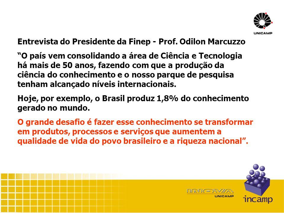 Entrevista do Presidente da Finep - Prof.