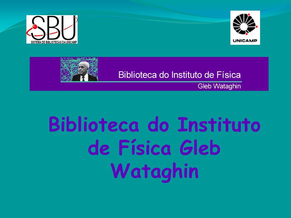 Sejam bem-vindos IFGW - BIF