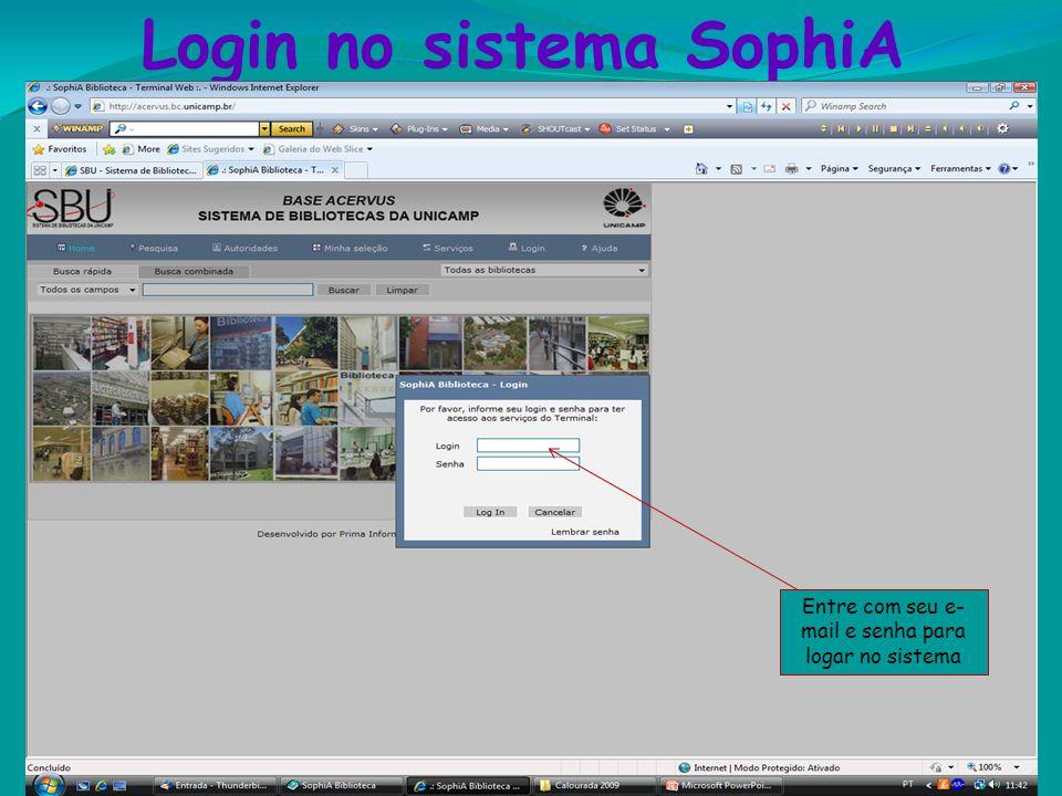 Login no sistema SophiA Este tem na BIF!!! Anote a classificação; Verifique se o livro está disponível; Localize-o na estante seguindo a ordem de Clas