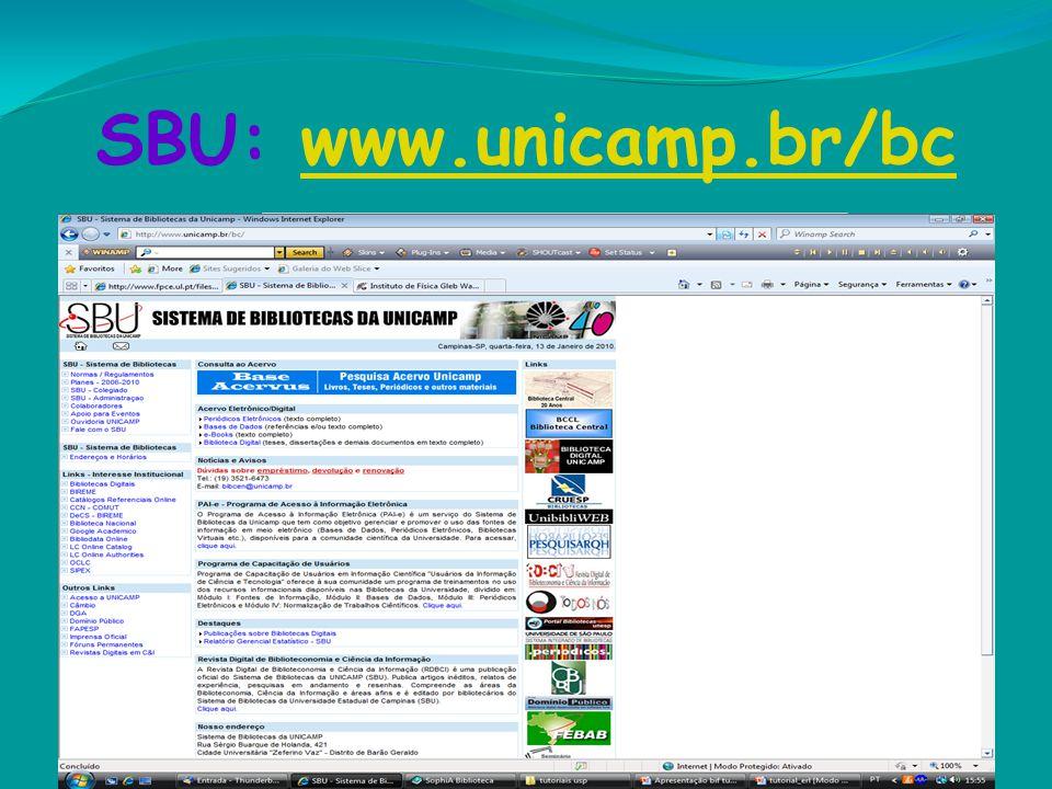 SBU: www.unicamp.br/bcwww.unicamp.br/bc