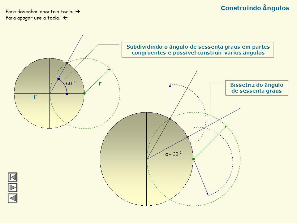 a) em cinco e em três partes congruentes A B C D Mediatriz de AD d d d d Circunferências com raios iguais a d As retas vermelhas dividem AB em 3 parte