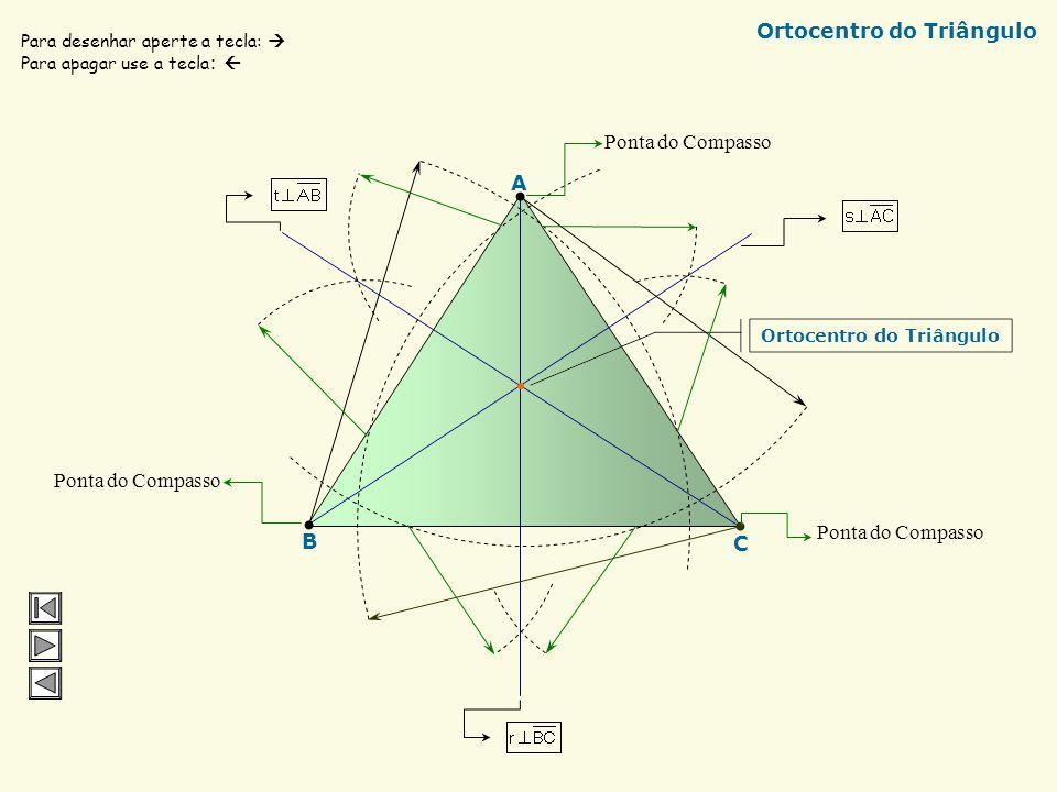 EA Bissetriz relativa ao ângulo EÂO Incentro do Triângulo Bissetriz relativa ao ângulo AÔE Bissetriz relativa ao ângulo OÊA O Para desenhar aperte a t