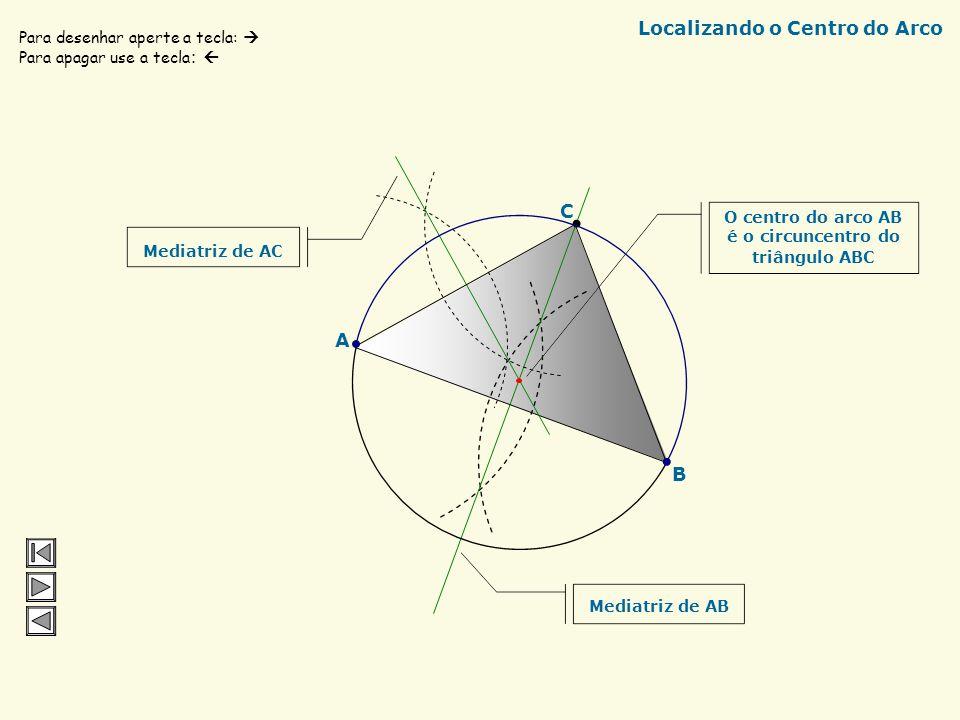 A C B Ortocentro do Triângulo Ponta do Compasso Para desenhar aperte a tecla: Para apagar use a tecla : Ortocentro do Triângulo