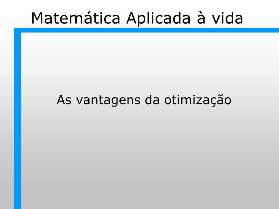 Matemática Aplicada à vida As vantagens da otimização