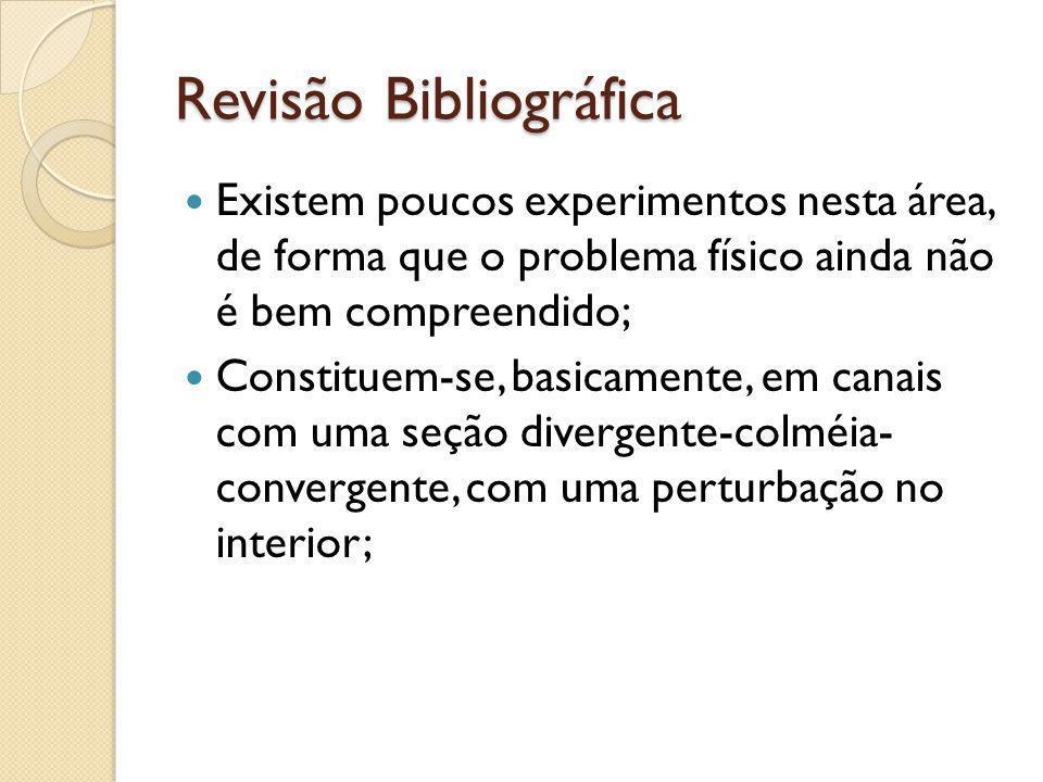 Revisão Bibliográfica Existem poucos experimentos nesta área, de forma que o problema físico ainda não é bem compreendido; Constituem-se, basicamente,