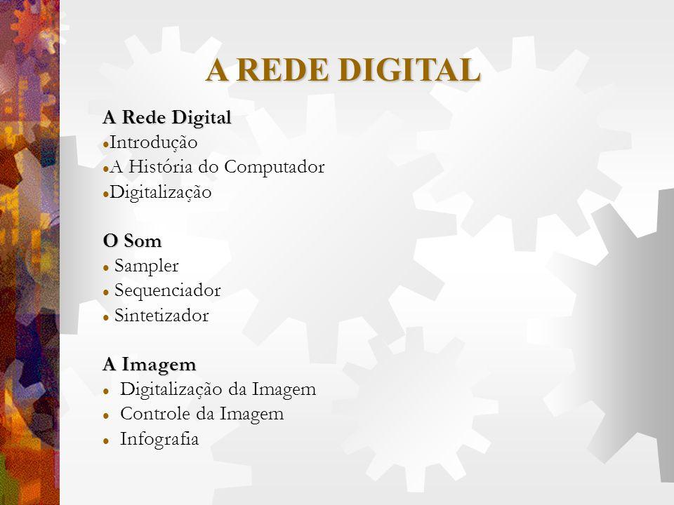 A Rede Digital Introdução A História do Computador Digitalização O Som Sampler Sequenciador Sintetizador A Imagem Digitalização da Imagem Controle da