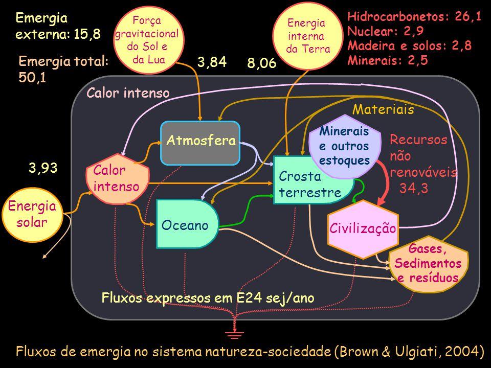 Transformidades Tr = Emergia/Energia Tr = Emergia/Massa Transformidade da chuva: Fluxo de emergia = 15,83 E24 sej/ano Fluxo de Energia = 5,19 E20 J/ano Tr = 3,1 E4 sej/J E assim por diante...
