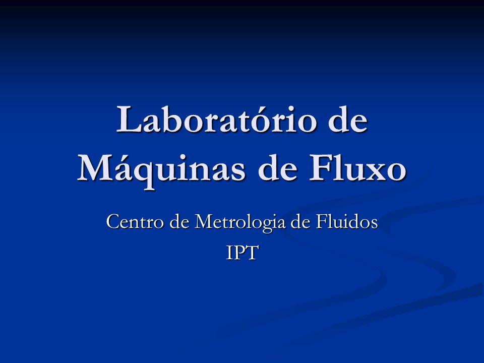 Laboratório de Máquinas de Fluxo Centro de Metrologia de Fluidos IPT