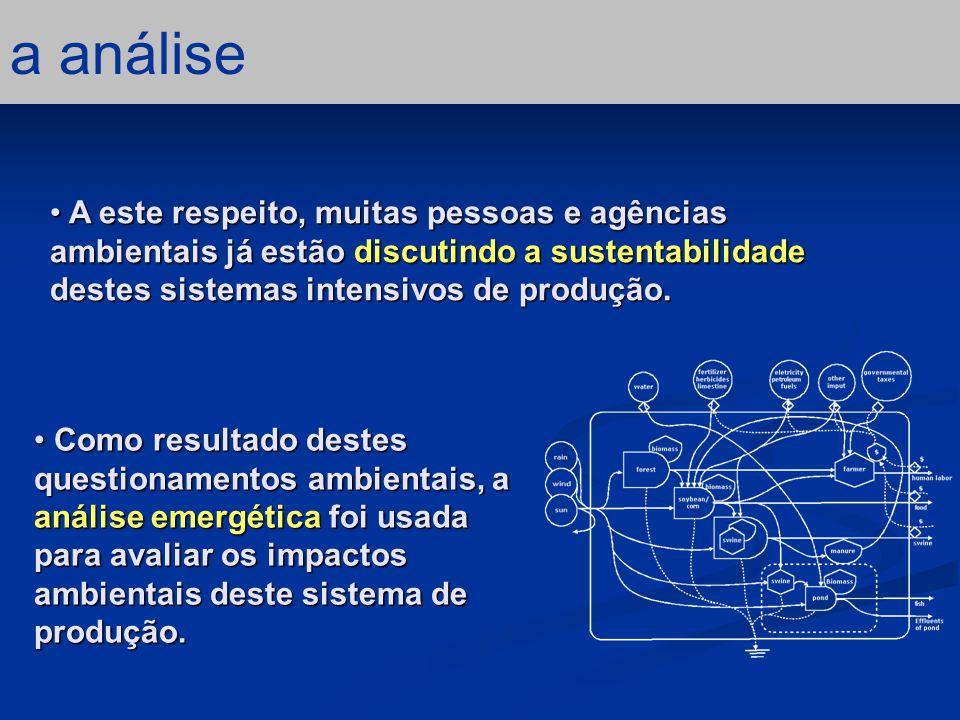 conclusão – 5/5 considerações finais Quando cada propriedade é analisada separadamente, os índices emergéticos são similares a outros sistemas de produção agrícola.