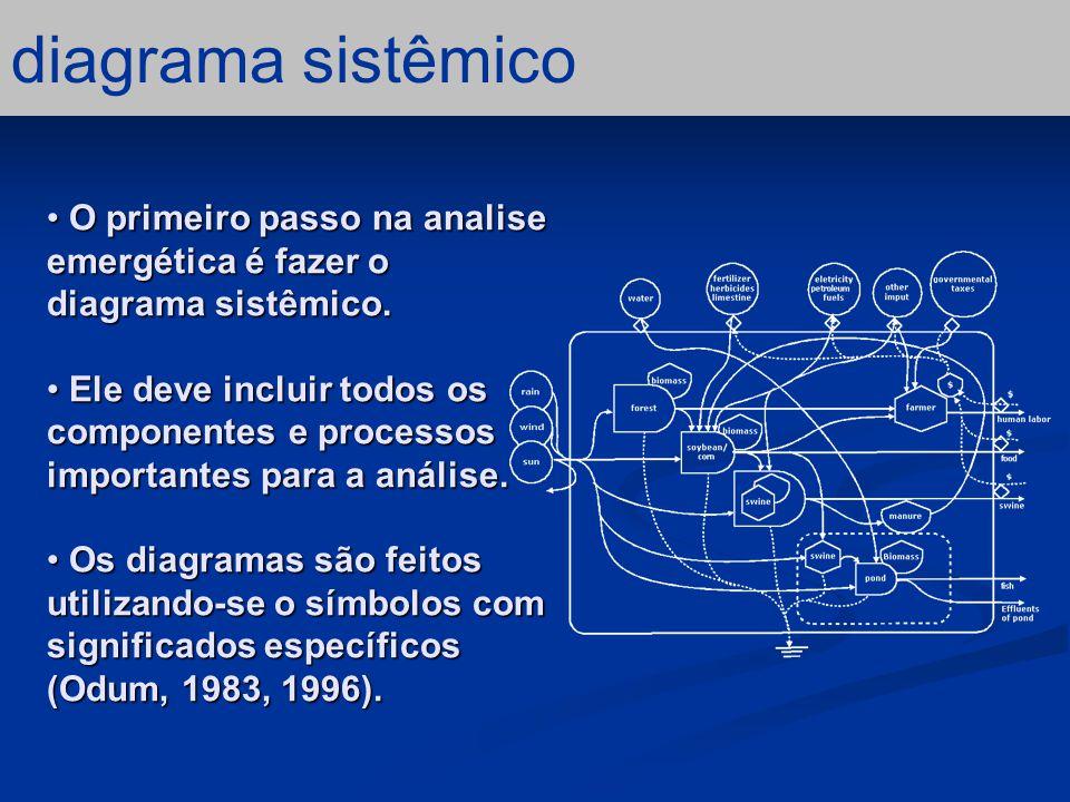 resultados – questão emergética Os valores de Tr, EYR, EIR e % R são similares ao de outros sistemas de produção agrícola pouco intensivos.