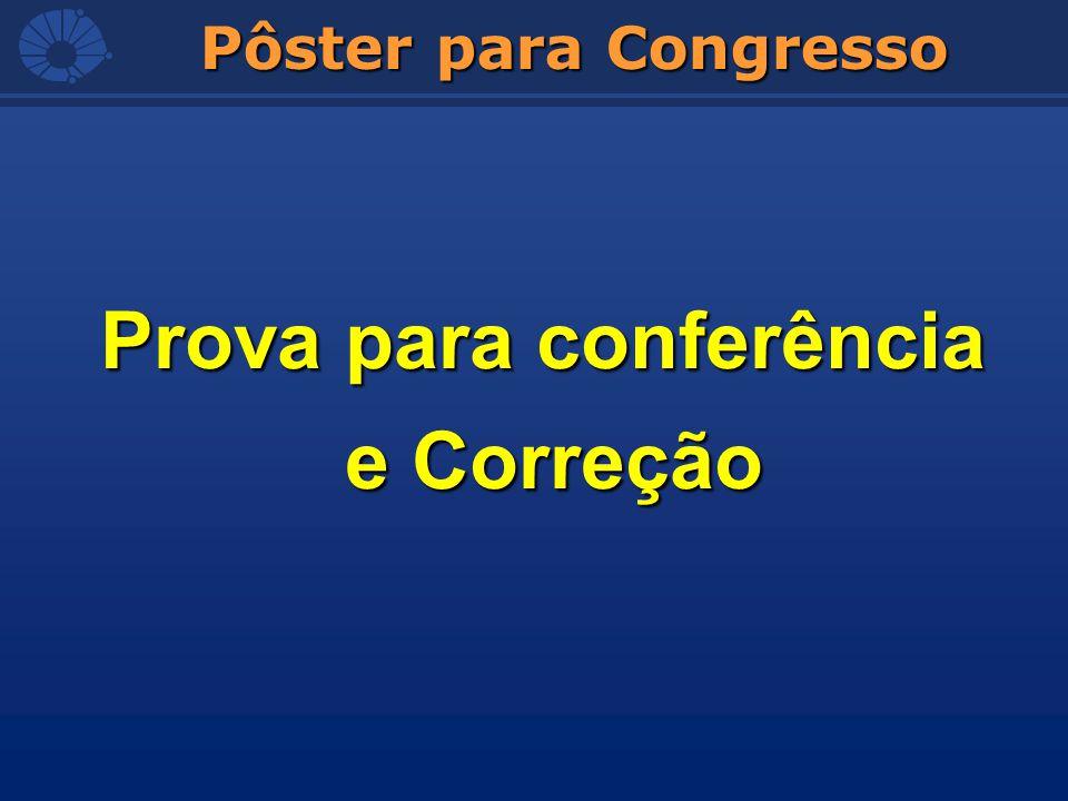 Pôster para Congresso Prova para conferência e Correção