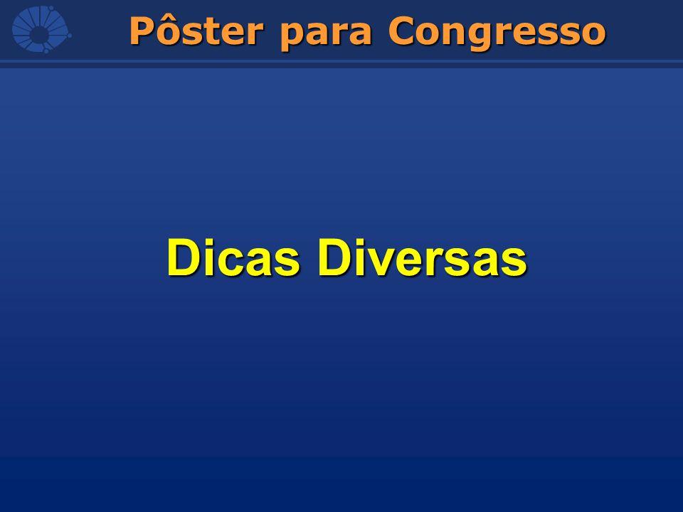 Pôster para Congresso Dicas Diversas