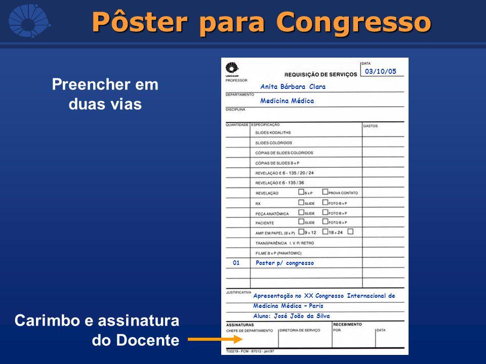 Pôster para Congresso Anita Bárbara Clara Medicina Médica 01 Poster p/ congresso 03/10/05 Apresentação no XX Congresso Internacional de Medicina Médic