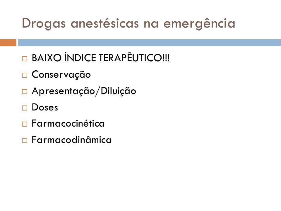 BAIXO ÍNDICE TERAPÊUTICO!!! Conservação Apresentação/Diluição Doses Farmacocinética Farmacodinâmica