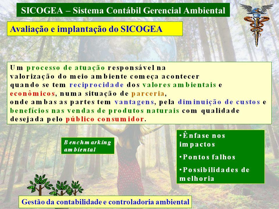 5 SICOGEA – Sistema Contábil Gerencial Ambiental Gestão da contabilidade e controladoria ambiental Indicadores sistema contábil-gerencial ambiental Sl
