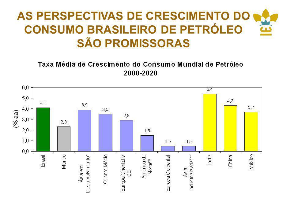 AS PERSPECTIVAS DE CRESCIMENTO DO CONSUMO BRASILEIRO DE PETRÓLEO SÃO PROMISSORAS