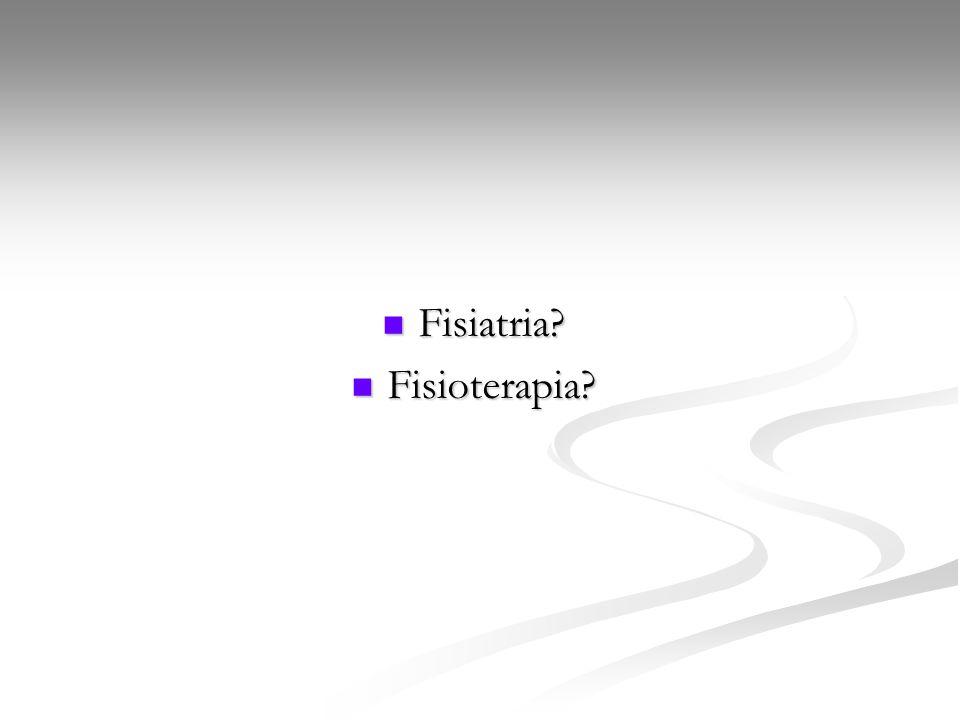 Histórico da Fisiatria