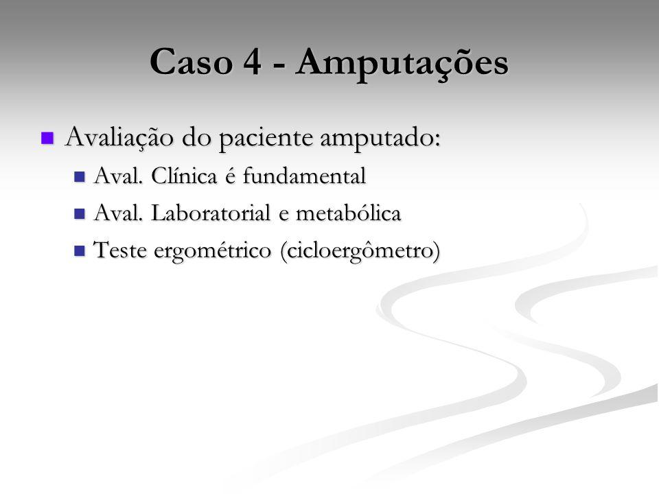 Caso 4 - Amputações Avaliação do paciente amputado: Avaliação do paciente amputado: Aval.