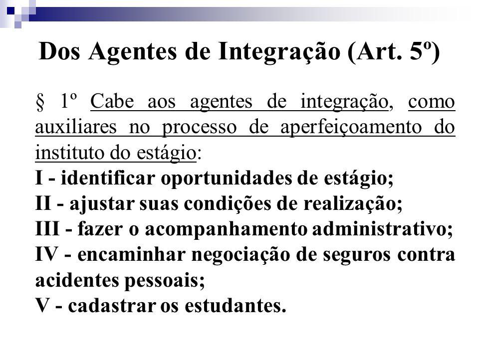 Dos Agentes de Integração (Art.