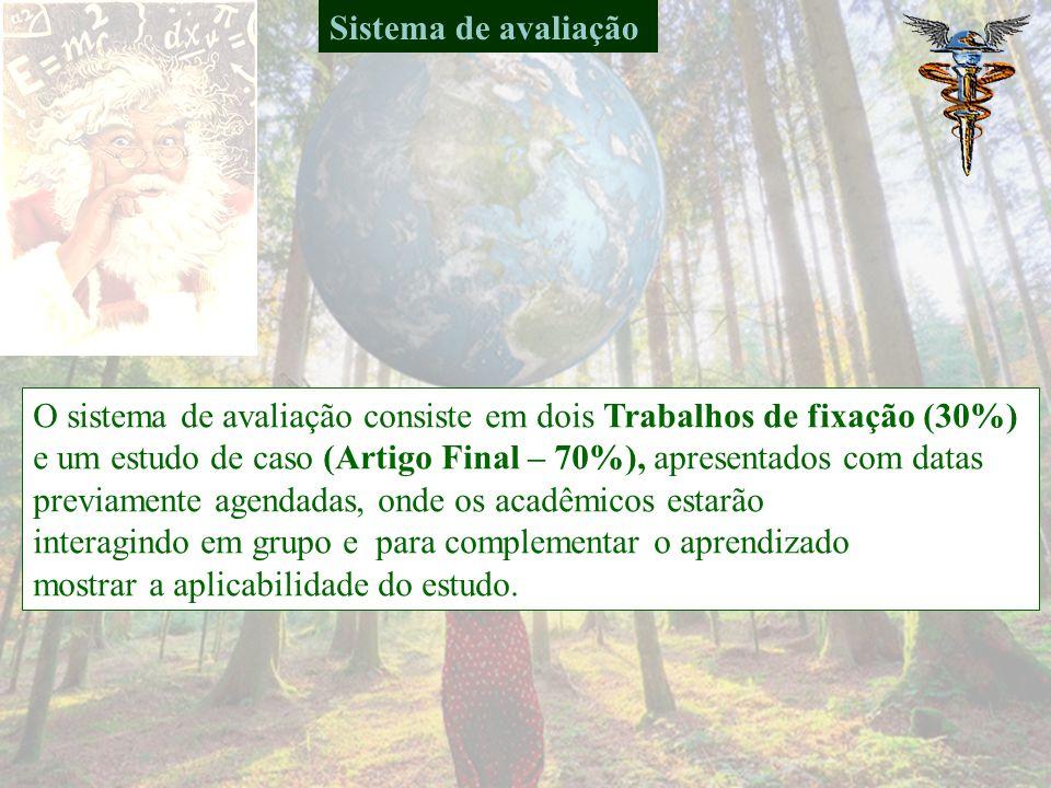 CONTEÚDO PROGRAMÁTICO Exemplos de trabalhos realizados em parceria com outras disciplinas e professores, já publicados em períódicos ou eventos (www.n