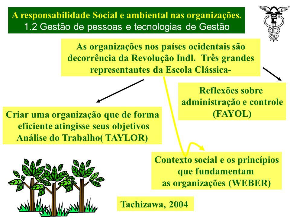A responsabilidade Social e ambiental nas organizações. A responsabilidade social deve expressar compromisso com os valores, conduta e procedimentos q
