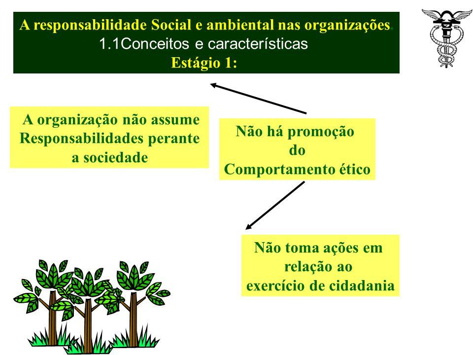 A responsabilidade Social e ambiental nas organizações. 1.1Conceitos e características Referencial de excelência para o mundo dos negócios Fundação pa