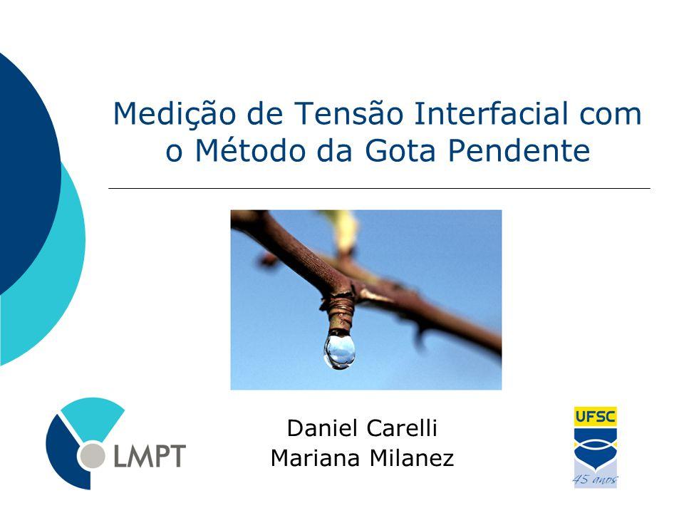 Medição de Tensão Interfacial com o Método da Gota Pendente Daniel Carelli Mariana Milanez