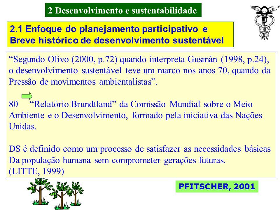 2 Desenvolvimento e sustentabilidade No Brasil as evidências mostram uma retrospectiva ao longo de um Processo de formação histórica, política, econôm