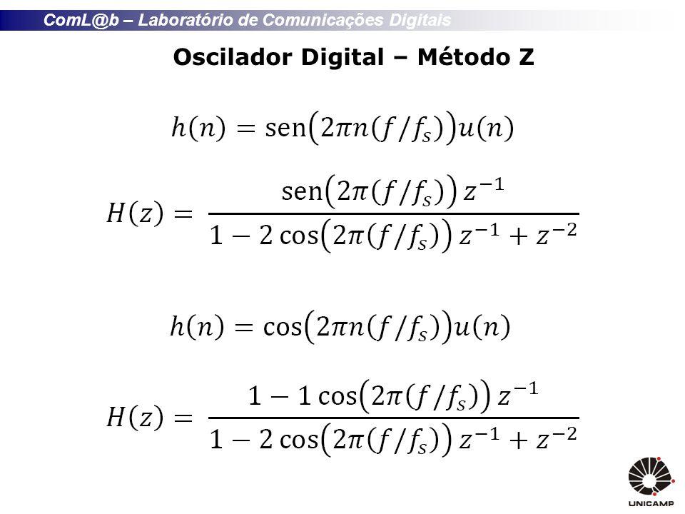 ComL@b – Laboratório de Comunicações Digitais Diagrama de tempo do debouncer CLK btn signal 123456748000 BTN REG counter relacional 0 1 2 3 4 5 6 ~48000 pb_down