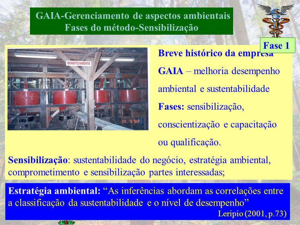 GAIA-Gerenciamento de aspectos ambientais Fluxo de informação