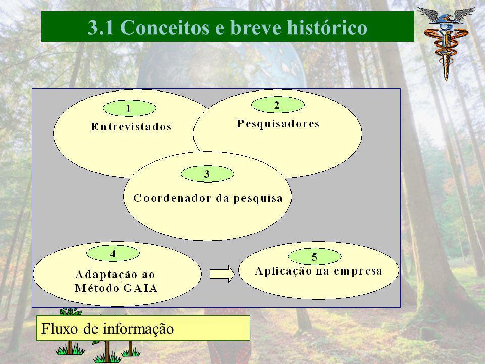 3.1 Conceitos e breve histórico Pesquisa de campo: Profissionais envolvidos na área ambiental Formar parcerias Diretores, pesquisadores, corpo docente
