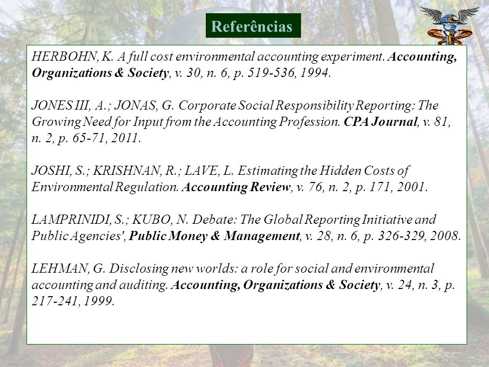 GRAY, R. et al. Social and Environmental Disclosure and Corporate Characteristics: A Research Note and Extension. Journal of Business Finance & Accoun