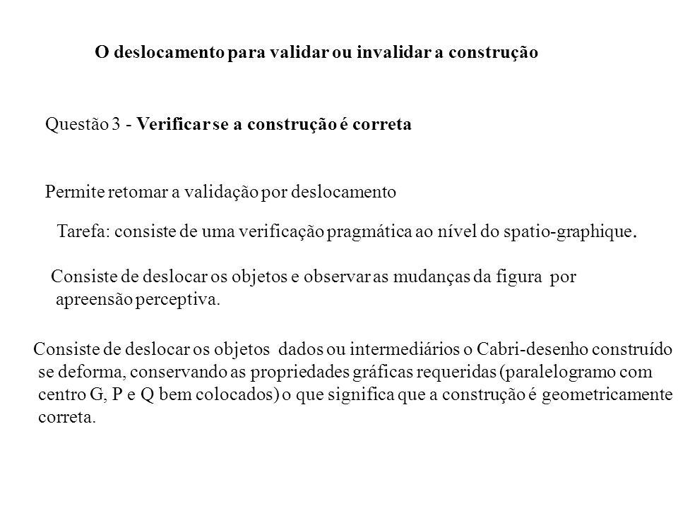 O deslocamento para validar ou invalidar a construção Questão 3 - Verificar se a construção é correta Permite retomar a validação por deslocamento Tar
