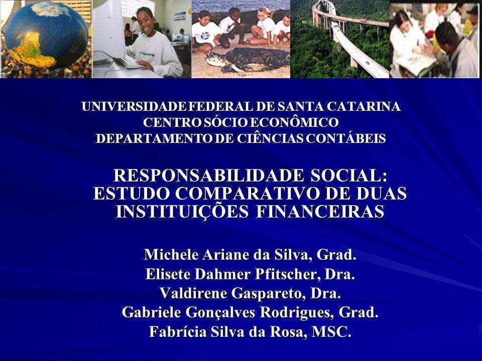 UNIVERSIDADE FEDERAL DE SANTA CATARINA CENTRO SÓCIO ECONÔMICO DEPARTAMENTO DE CIÊNCIAS CONTÁBEIS RESPONSABILIDADE SOCIAL: ESTUDO COMPARATIVO DE DUAS I
