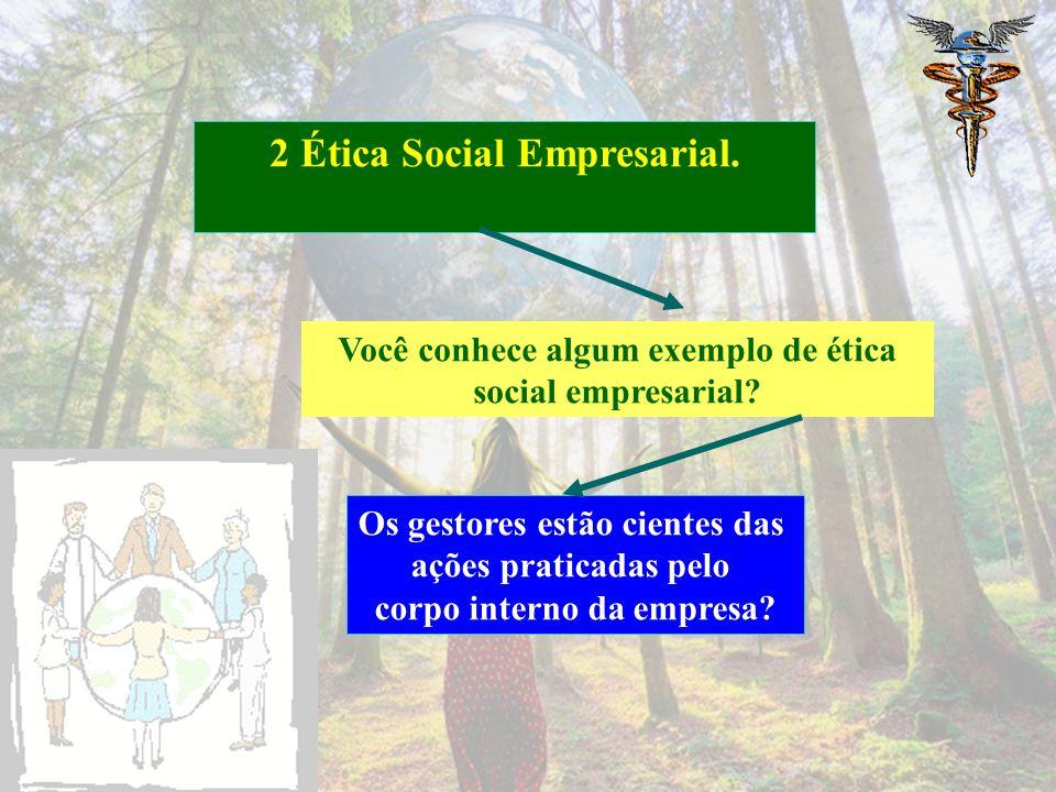 Procure pesquisar sobre o assunto? 2 Ética Social Empresarial. Machado Filho (2006) Barbieri e Cajazeira (2009)