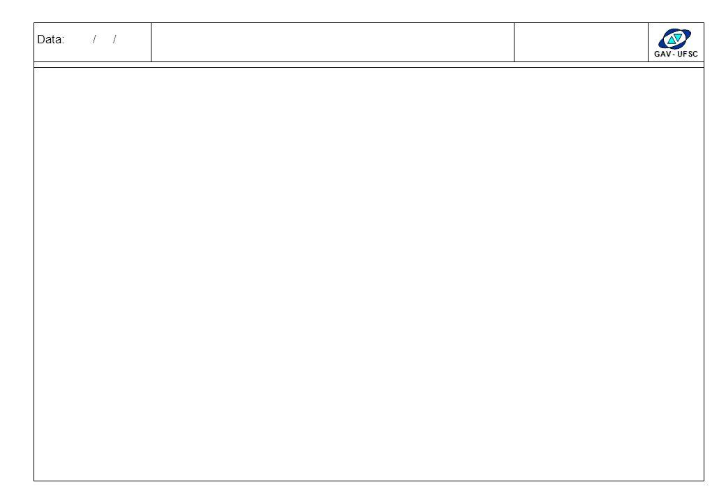 Data: / / GAV - UFSC CLIENTESSERVIÇOS REQUISITOS INDISPENSÁVEISDESEJÁVEIS PARTICIPAÇÃO SERVIÇOS X CLIENTES