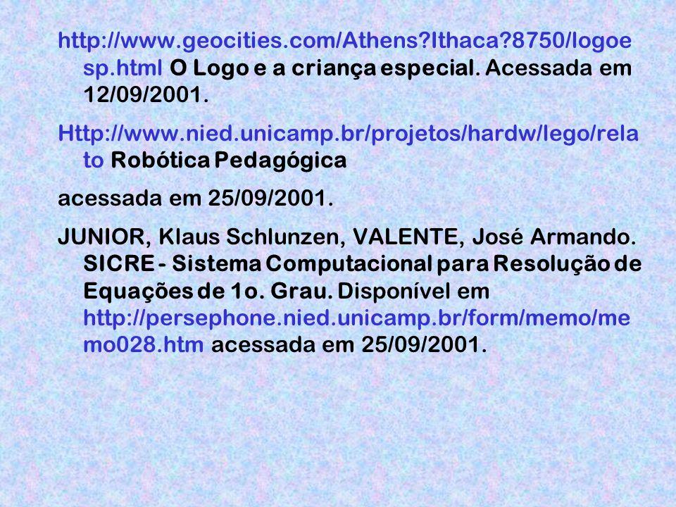 http://www.geocities.com/Athens?Ithaca?8750/logoe sp.html O Logo e a criança especial.