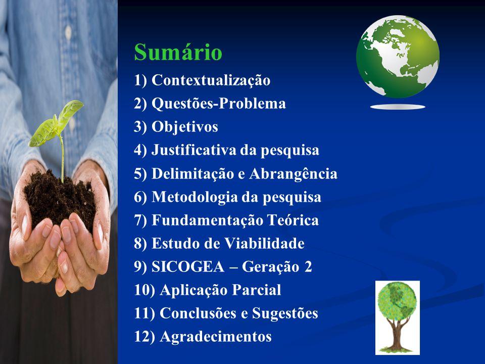 Delimitação e Abrangência 5 Este estudo não visa acabar com as discussões acerca do tema, apenas contribuir para a base teórica do assunto e a problemática observada, não impedindo outros pontos de vistas e outras formas de cálculos de sustentabilidade nas organizações, para a gestão ambiental.
