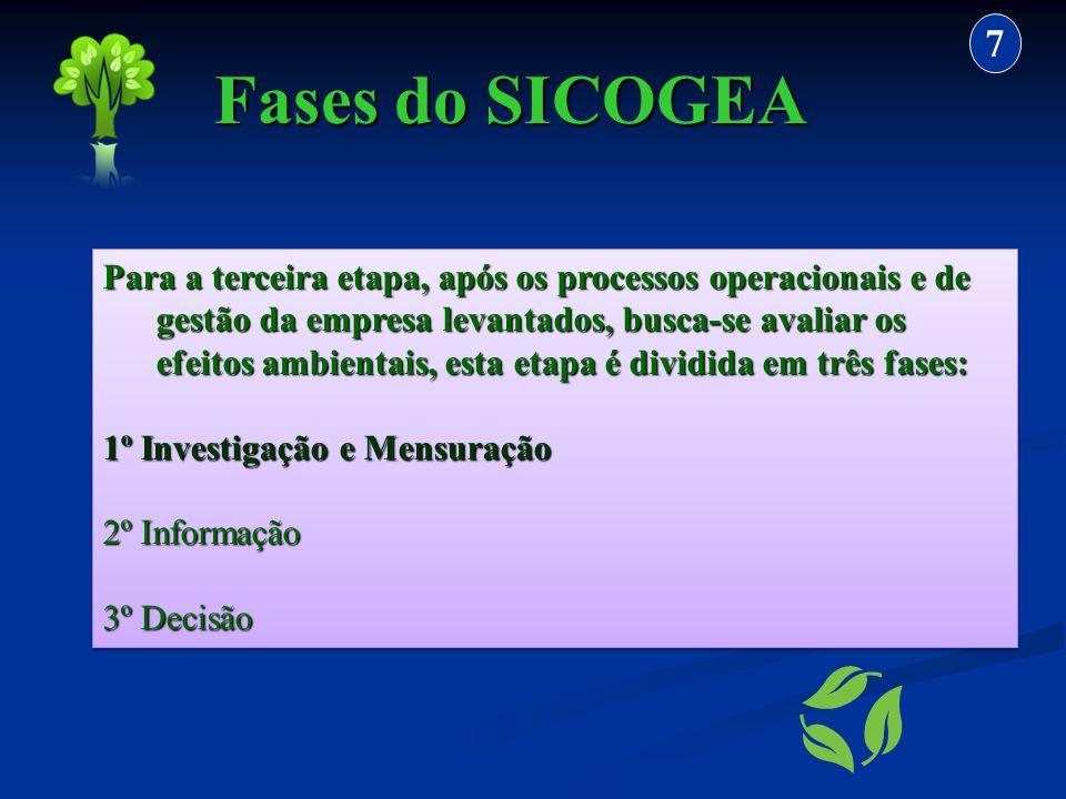 Para a terceira etapa, após os processos operacionais e de gestão da empresa levantados, busca-se avaliar os efeitos ambientais, esta etapa é dividida