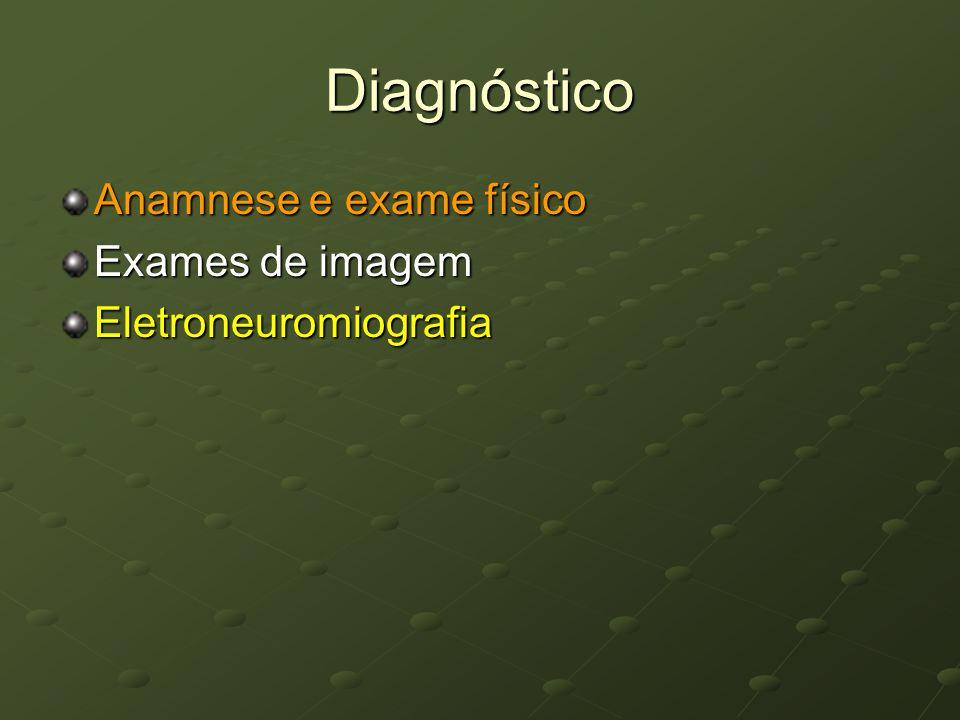 Diagnóstico Anamnese e exame físico Exames de imagem Eletroneuromiografia
