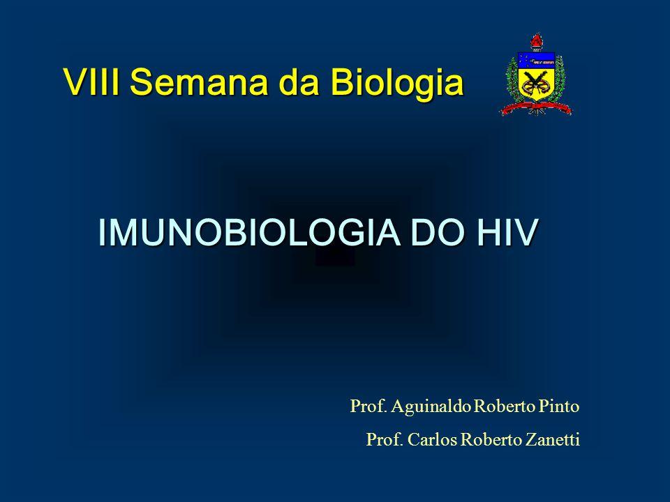 IMUNOBIOLOGIA DO HIV Prof. Aguinaldo Roberto Pinto Prof. Carlos Roberto Zanetti VIII Semana da Biologia