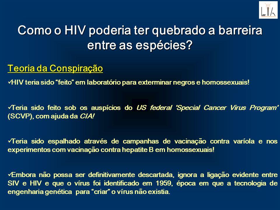 Como o HIV poderia ter quebrado a barreira entre as espécies? Teoria da Conspiração HIV teria sido feito em laboratório para exterminar negros e homos