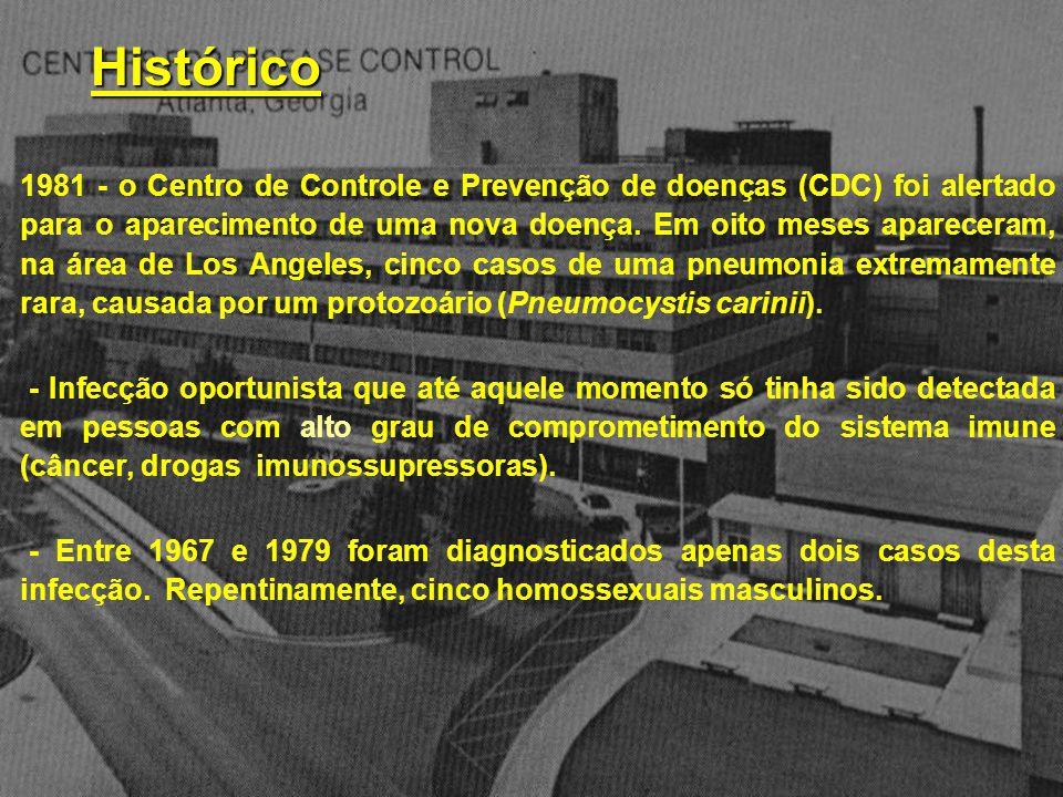 1981 - o Centro de Controle e Prevenção de doenças (CDC) foi alertado para o aparecimento de uma nova doença. Em oito meses apareceram, na área de Los