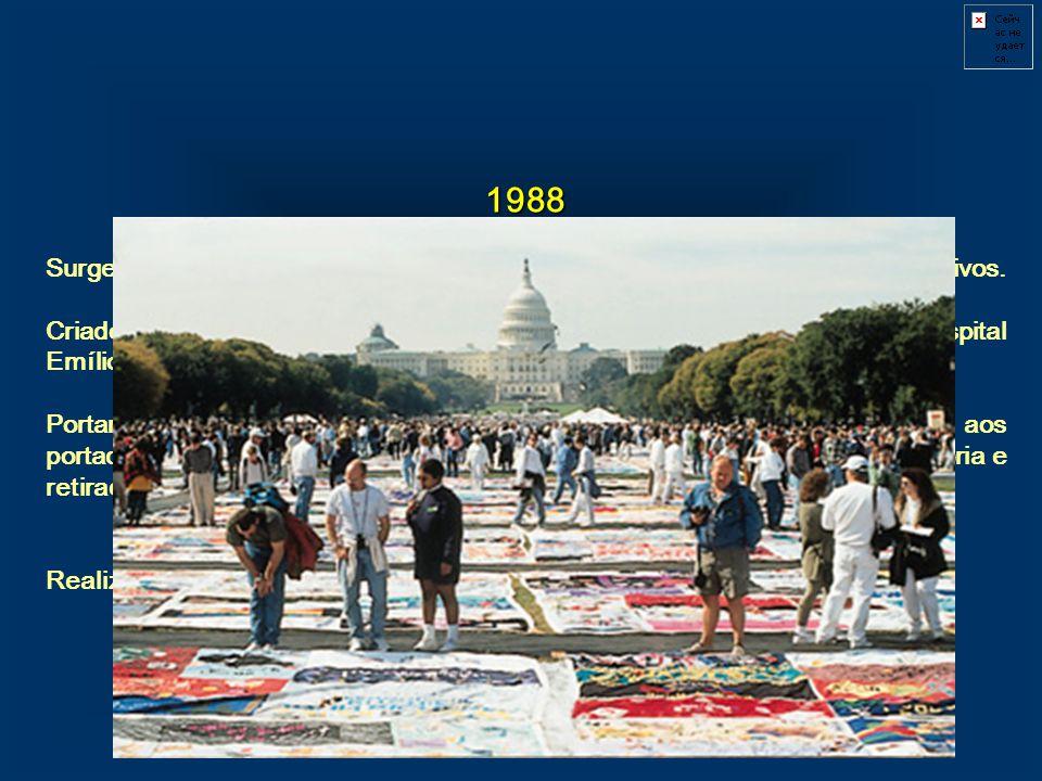 1988 Surge o GIV (Grupo de Incentivo à Vida), o primeiro grupo de soropositivos. Criado o Centro de Referência e Treinamento da Aids, no Hospital Emíl